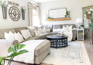 21 Farmhouse Rugs You Can Actually Afford – Lolly Jane – living room rug ideas
