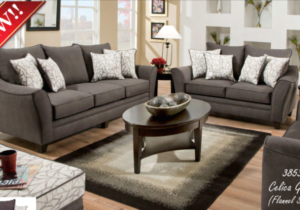 21211 Sofa, Loveseat & Chair & 211/21 Flannel Seal Celica Collection – living room 2 chairs