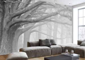 21D Wallpaper Living Room Bedroom Murals Modern Black And White Forest Tree  Art TV Wall Murals Wallpaper For Walls 21 D Movie Wallpaper Movie Wallpapers  ..