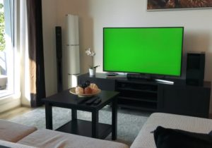 A Tv with a Green Stock Footage Video (19% Royalty-free) 19 |  Shutterstock – living room tv