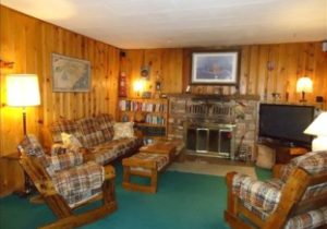 All wood 20 cabin–charming, quiet, isolated: but minutes from everything  – Ruidoso – living room 1960
