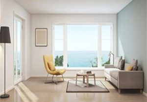 Amazon.com : AOFOTO 20x20ft Modern Living Room Background Seaview ..