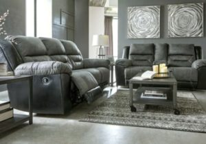 Ashley Furniture Earhart Reclining Sofa and Loveseat Living Room Set – living room set