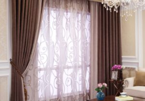 Bedroom or Living Room Chenille Blackout curtains drapes – living room curtains