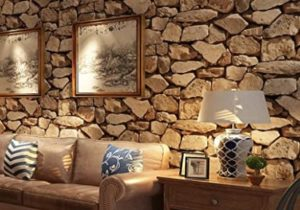 Birwall Faux Rustic Brick Stone Wallpaper Wall Paper for Livingroom Kitchen  Bedroom,21.21 In21.21 Ft=21 Sq