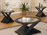 Black 13 Pieces Round Occasional Table Set – living room table sets