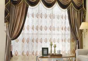 Brown Plain Chenille Waterfall and Swag living room Valance Curtains  customize | eBay – living room valances