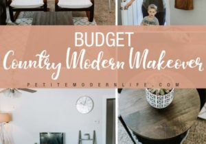 Budget Country Modern Living Room Makeover – Petite Modern Life – living room makeover