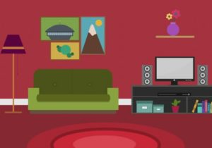 Cartoon Modern Colorful Living Room Stock Footage Video (11% Royalty-free)  11 | Shutterstock – living room cartoon