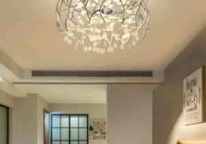 Contemporary Light Fixtures Flower Leaves Crystal Flush Mount Light for  Living Room Dining Room – living room light fixtures