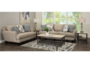 Contemporary Linen Beige 16 Piece Living Room Set – Bryn – living room set