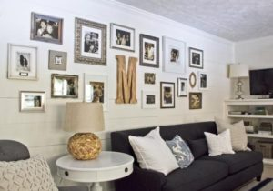 Creating a Long Gallery Wall | Cottage style living room, Living ..