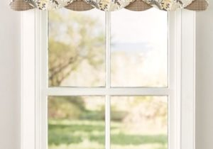 Emerson Rod Pocket Layered Valance | Kitchen window treatments ..