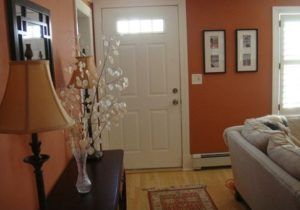Entrance with no foyer (With images) | Small living room decor ..