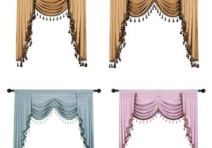European Luxury Valances for Living Room Waterfall Valances for Kitchen  Modern Curtains for Living Room Swag Valances(Rod Pocket, 12 Piece) | Home – living room valances