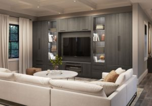 Family Room Cabinets & Storage Solutions | California Closets – living room storage