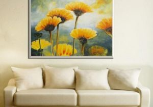 Flower Painting, Paintings on Canvas, Living Room Painting, Flower Oil  Painting, Large Painting, Nature Painting, Large Flowers Painting – living room paintings