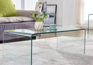 Glass Coffee Table for Living Room Tempered Glass Modern Coffee Table Clear  End Table Outdoor Table – living room glass table
