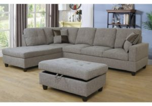 Gray Dubey Living Room Sectional with Ottoman – living room ottoman