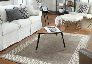 Gray Oceanus Greek Key Area Rug, 19×19 – living room 5×8 rug