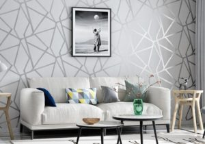 Grey Geometric Wallpaper For Living Room Bedroom Gray White Patterned  Modern Design Wall Paper Roll Home Decor Hd Wallpapers Best Hd Wallpapers  ..