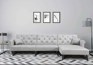 Harper&Bright Designs Sofa Bed Set Sectional Sofa Living Room Furniture  Sofa Set Sleeper Couch Bed Modern Contemporary Upholstered with Extra Wide  ..