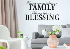 HOME FAMILY BLESSING Quotes Art Wall Stickers Living Room Bedroom Decals US  NEW – living room quotes