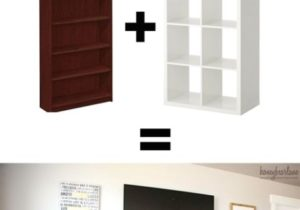 IKEA Hack: Expedit into Long Storage Unit | Home diy – living room storage