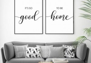 Its So Good to Be Home Print, Set of 20 Quotes, Living Room Wall Art, Above  Bed Quotes, Bedroom Wall Decor, Printable Quote, Couple Wall Art – living room quotes