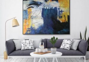 Large paintings for sale, large canvas art for living room, abstract  acrylic painting, extra large artwork on canvas, massive wall art EM16 – living room paintings