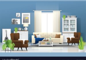 Living room background in modern rustic style – living room background