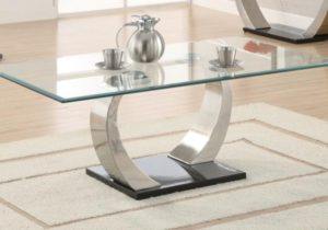 LIVING ROOM: GLASS TOP OCCASIONAL TABLES – Contemporary Coffee Table – living room glass table