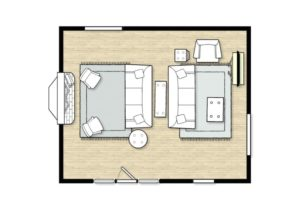 living room layout | room size 13 x 13 | Living room layout ..