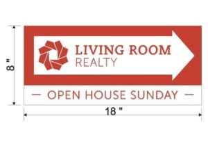 Living Room Open House Directional Sign – living room realty