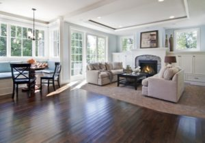 Living Room with Kitchen Breakfast Nook – Traditional – Living ..