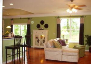 Livingroom with green walls – Eclectic – Living Room – Baltimore ..