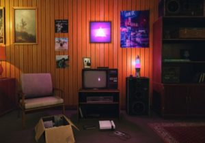 Low-Poly 14s Room Pack – living room 80s