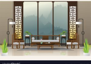 Luxury living room in chinese style background – living room background