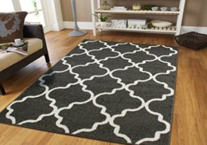 Luxury Rugs for Bedroom for Teens 19×19 Contemporary Rug Grey 19×19 Area Rugs  Morrocan Trellis Gray and White Modern Rugs For Living Room, 19×19 Rug – living room 5×8 rug