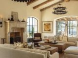 Mediterranean Living Room Cathedral Ceiling Design Ideas – living room vaulted ceiling