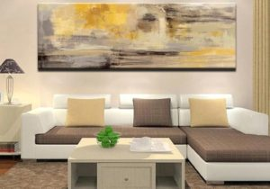 Modern Abstract Paintings Wide Format Canvas Fine Art Prints Wall Art For  Bedroom Living Room Dining Room Art For Modern Home Decor – living room paintings