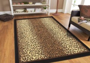 Modern Area Rugs Brown Cheetah Leopard 19×19 Rugs for Living Room 19×19 – living room 5×8 rug