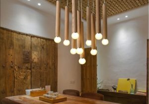 Modern Country Style LED Hanging Light Fashion Wood Pendant Lights Living  Room Hanging Lamp Verlichting Lamparas Home Lighting Double Pendant Light  ..