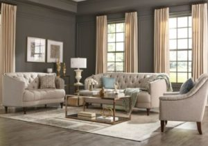 Modern Traditional Living Room 20-Piece Sofa Loveseat Couch Set Gray Fabric – living room sofa