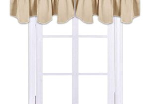 NICETOWN Living Room Blackout Valances – 12 inches by 12 inches Scalloped  Rod Pocket Valance Panels for Nursery/Living Room/Bedroom/Small Window, ..