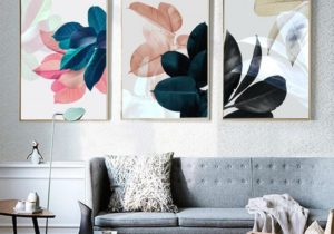 Nordic Art Paintings Wall Pictures For Living Room Posters Plants Leaves  Wall Art Canvas Painting Posters And Prints Unframed – living room wall art