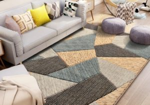Nordic Carved Carpet Thick Geometric Carpets For Living Room Home Decor – for living room