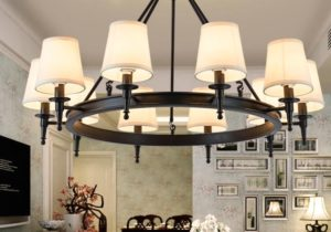 Pendant Light American Country Living Room Lights Hang Lamps Chandelier  Crystal Simple Iron Dining Room Bedroom Study Room Modern Hanging Light ..