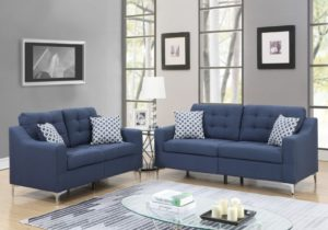 PriceBusters Special Navy Sofa & Love Under $20 – living room sofa