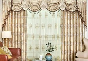 "Queen's House Luxury Drapes and Curtains for Living Room Gold Valances  Drapes for Bedroom 20""W×20""HR – living room curtains"